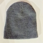 GREY BEANIE BACKSIDE